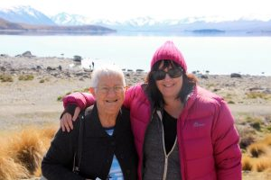 Mum and I at Lake Tekapo, New Zealand