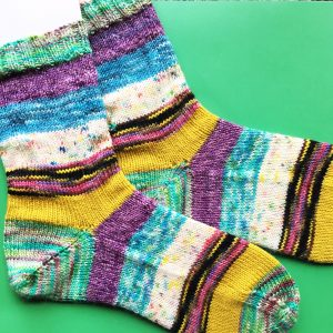 Completed Scrappy Socks